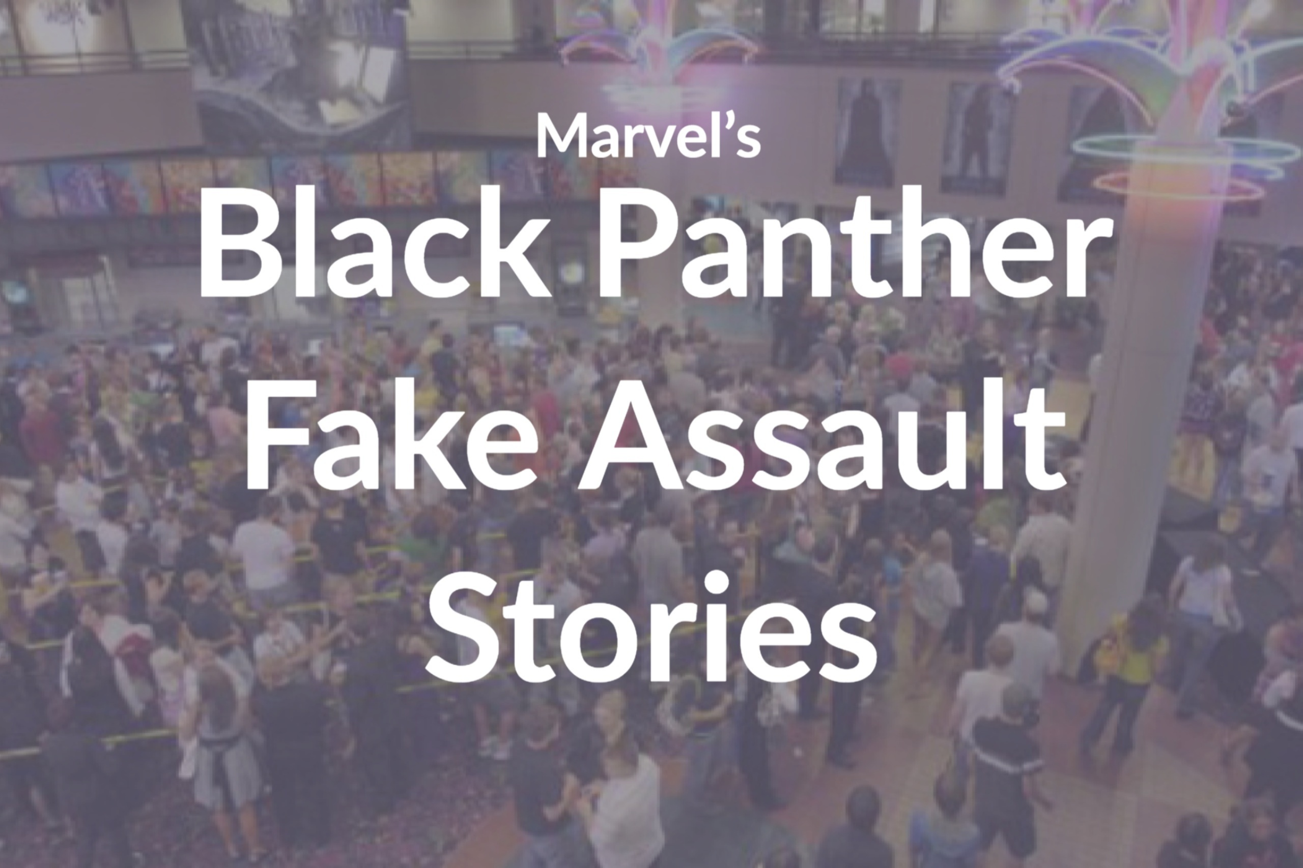 Marvel's Black Panther Fake Assault Stories on Twitter