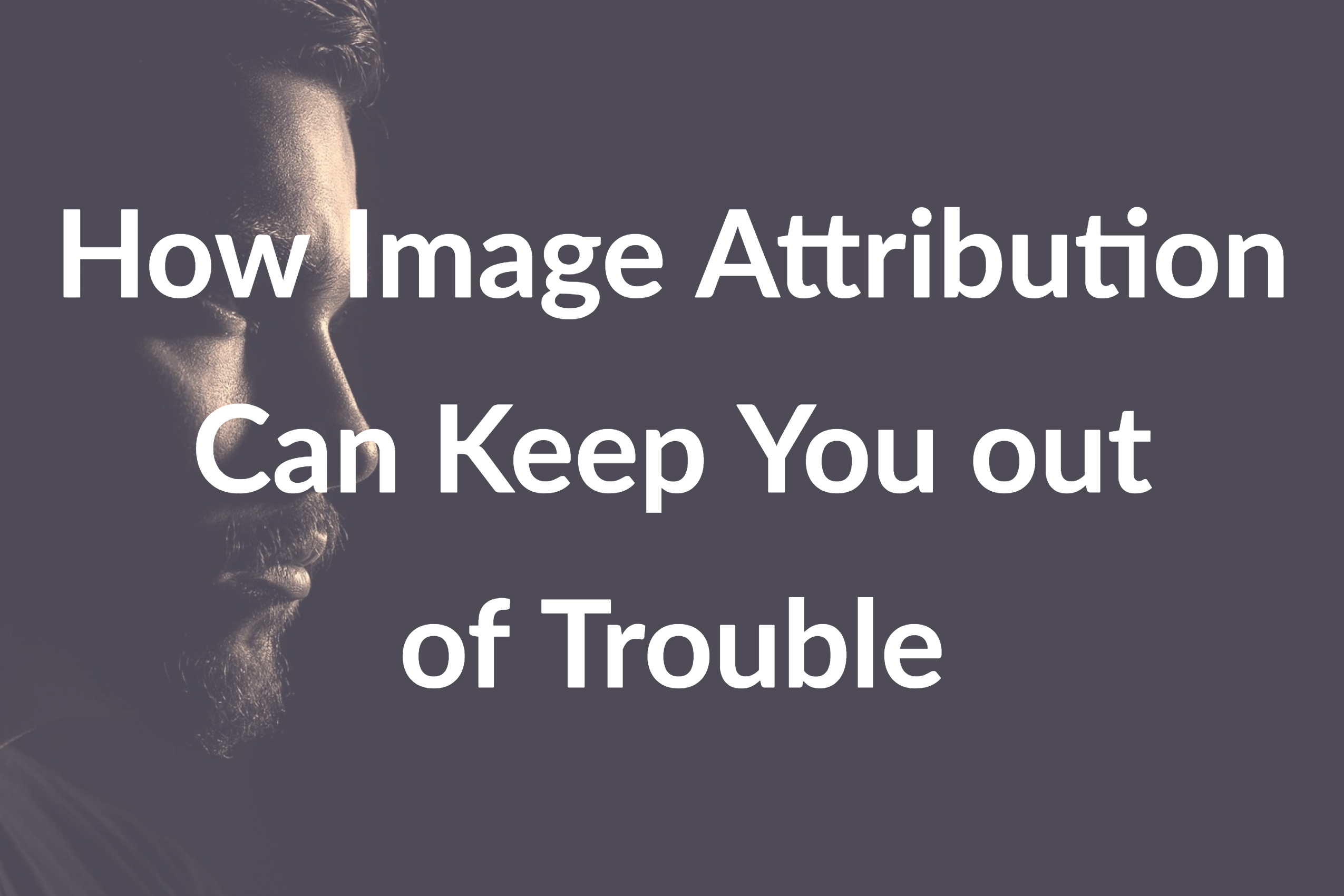 How Image Attribution Can Keep You out of Trouble