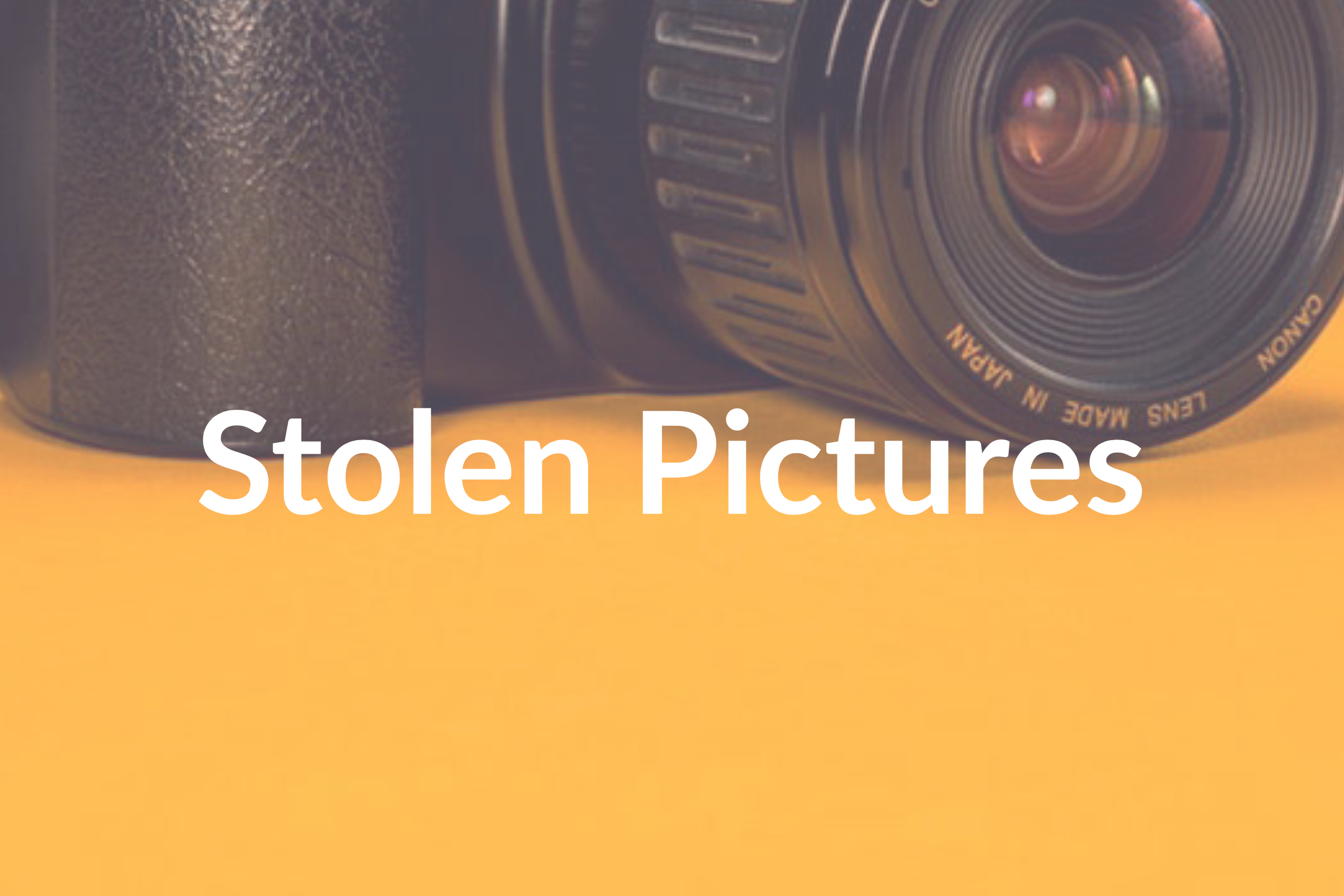Stolen Pictures: 6 Way to Protect Your Work